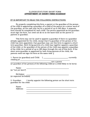 Bill Of Sale Form Illinois Guardianship Form Templates - Fillable ...