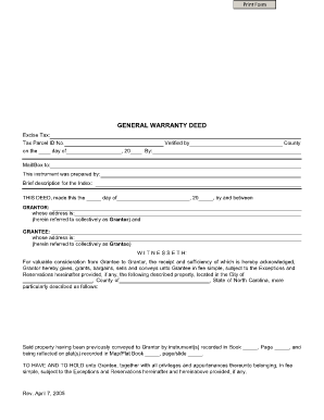 Nc Executor Deed Form · West Virginia Warranty Deed Sample Form
