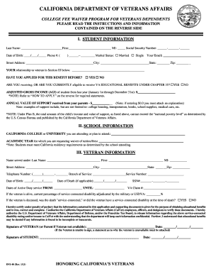 2013 2018 form ca dvs 40 fill online printable fillable blank preview of sample california college fee waiver altavistaventures Image collections