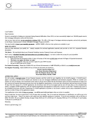 Ocwen Form Fill Online Printable Fillable Blank Pdffiller