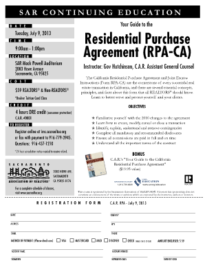 Your Guide To The California Residential Purchase Agreement