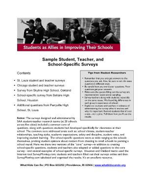 sample job application form for high school students