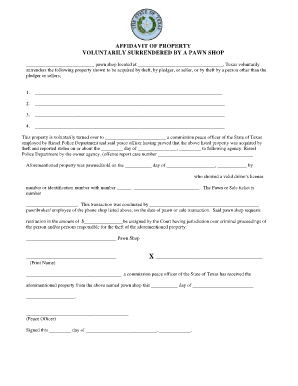Voluntary Surrender Of Property Form   Fill Online, Printable
