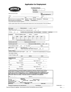 Free Job Application Form Templates Fillable Printable
