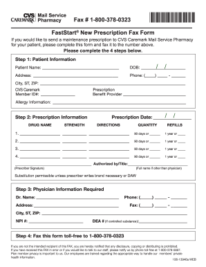 cvs caremark prescription form Caremark Fax - Fill Online, Printable, Fillable, Blank | PDFfiller