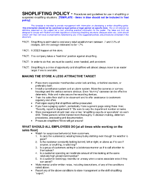 SHOPLIFTING POLICY template - Procedures and guidelines for ...