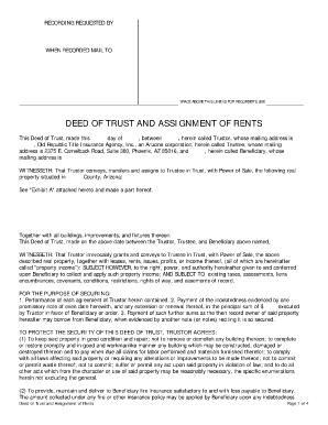 Deed Of Trust Arizona Search Form - Fill Online, Printable ...