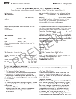 5 Printable Commercial Sublease Agreement New York Forms And