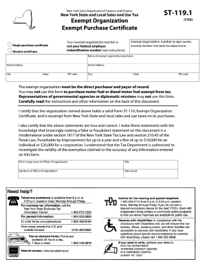 2002 Form NY ST-119.1 Fill Online, Printable, Fillable, Blank ...