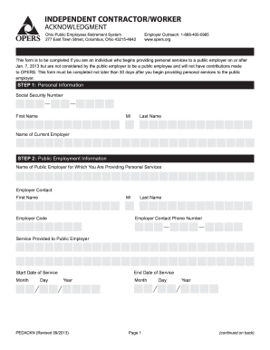 opers independent contractor form