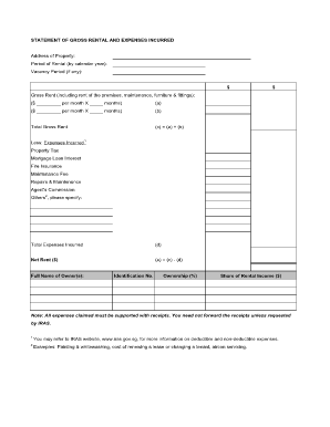 28 Printable Rent Statement Forms And Templates Fillable Samples In Pdf Word To Download Pdffiller