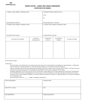 Korea country origin fill online printable fillable blank certificate of origin korea form yadclub Gallery