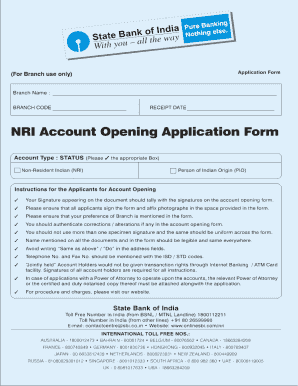 United Bank Of India Nri Account Opening Form - Fill Online ...
