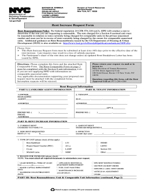 Hpd Rent Request Form Fill Online Printable Fillable