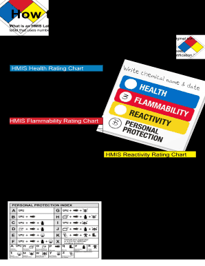 image relating to Free Printable Hazardous Waste Labels called Fillable Hmis Label - Fill On-line, Printable, Fillable