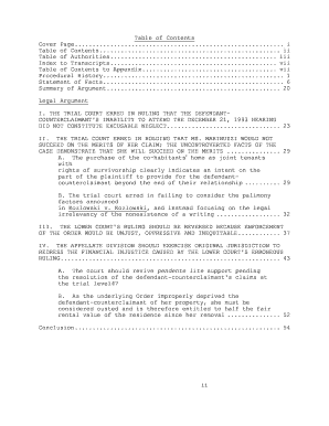 Appellate Brief Template Microsoft Word 2010 Fill Online