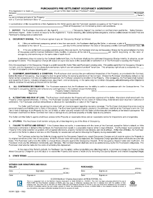 Texas Presettlement Occupancy Agreement - Fill Online, Printable ...
