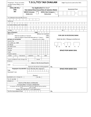 How To Fill Form No 281 Of Income Tax - Fill Online, Printable