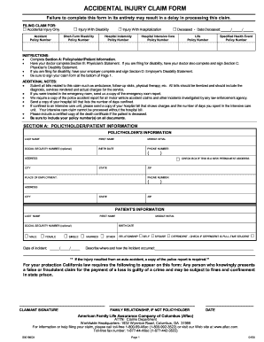 Aflac Forms For Accident - Fill Online, Printable, Fillable, Blank ...
