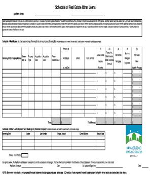 reo schedule worksheet