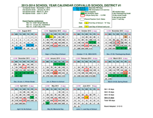 corvallis school district calendar 2013 form