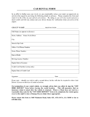 Car rental agreement format fill online printable for 100 questions to ask before renting an apartment
