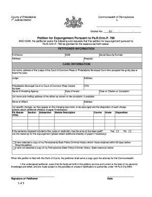 Pa Expungement Form - Fill Online, Printable, Fillable, Blank ...