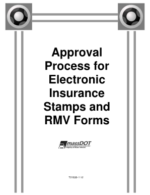 Rmv 1 Form >> Rmv Insurance E Stamp Fill Online Printable Fillable Blank