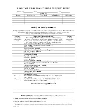 Fleet Truck Inspection Forms