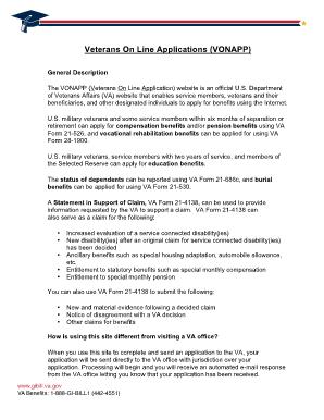 form 22 1990 Fillable Online gibill va VA Form 22-1990 - Veterans Benefits ...