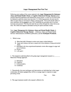 It's just a picture of Trust Anger Management Quiz Printable