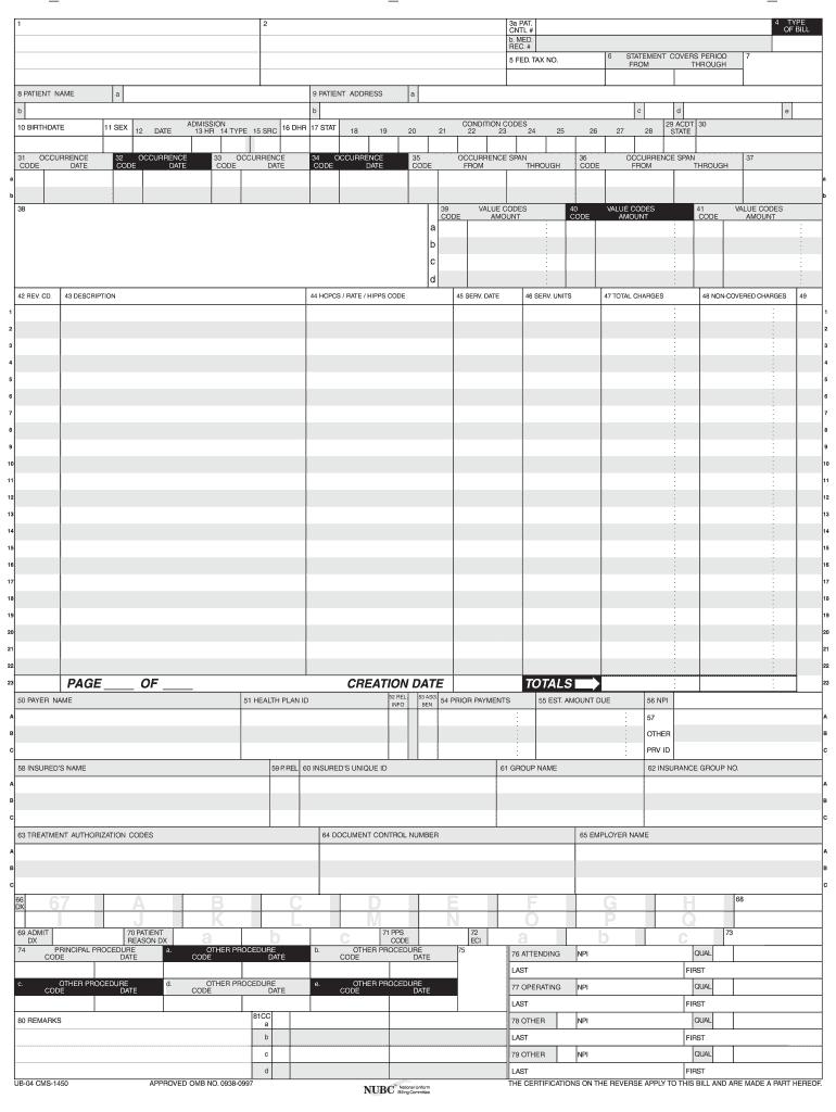 free ub 04 form pdf  Ub7 Claim Forms - Fill Online, Printable, Fillable, Blank ...