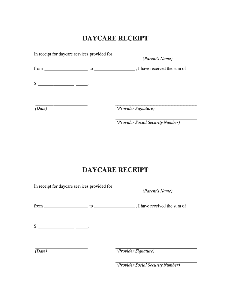 graphic regarding Home Daycare Forms Printable identify Childcare Recipet - Fill On line, Printable, Fillable, Blank