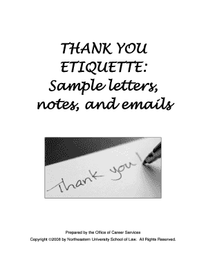 thank you letters samples form