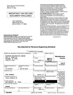 Free Fillable 1099 Misc Form 2011 - Fill Online, Printable ...
