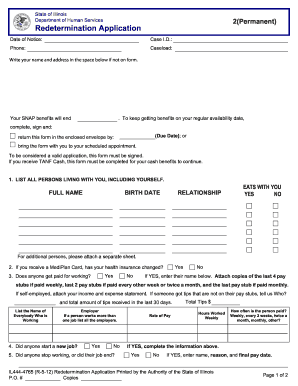 illinois food stamps 2011  form