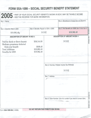 Fill out a ssa 1099 form Fill Online, Printable, Fillable, Blank ...