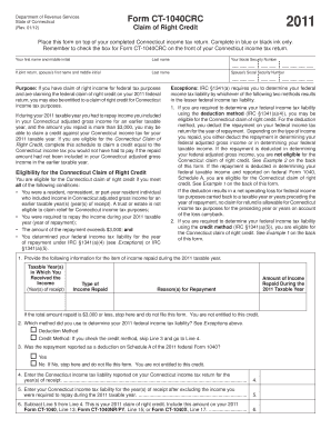 form ct1040 Ct 1040 Crc - Fill Online, Printable, Fillable, Blank | PDFfiller
