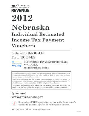 NE DoR 1040N-ES Fill Online, Printable, Fillable, Blank - PDFfiller