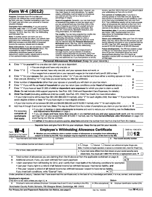 Md w4 2012 fillable form