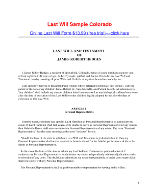 26 printable sample codicil to last will and testament for Sample of a last will and testament template