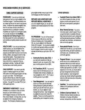 wisconsin w2 form  Pdf Wisconsin Works W7 Form Online - Fill Online, Printable ...