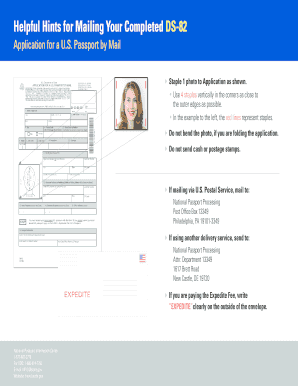 sample completed ds 82 form