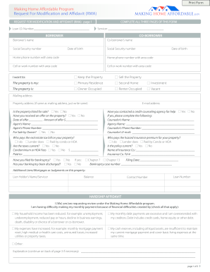 Ocwen Rma Hardship Affidavit - Fill Online, Printable, Fillable ...