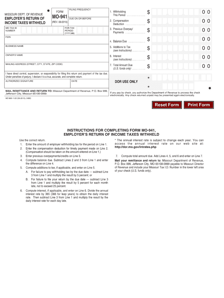 11 Form MO MO-11 Fill Online, Printable, Fillable, Blank ...
