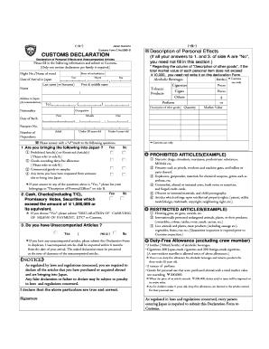 Customs Declaration Form 5360 B Instructions - Fill Online ...