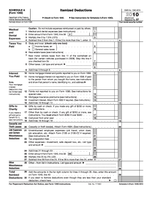 irs schedule a 1040 form pdffiller