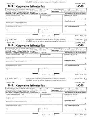 Form 100 Es 2012 - Fill Online, Printable, Fillable, Blank | PDFfiller