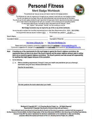 Merit Badge Personal - Fill Online, Printable, Fillable, Blank ...