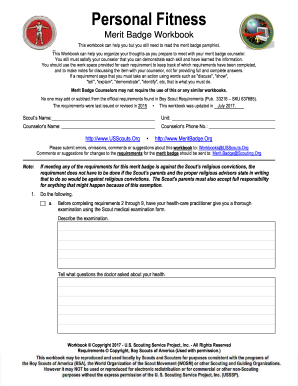 Worksheet Personal Management Merit Badge Worksheet personal fitness merit form fill online printable fillable help with definition form